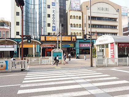 マツヤマンスペースへ電車・徒歩でお越しの場合(道順3/6)