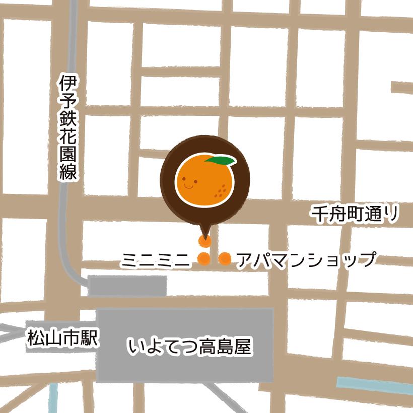 マツヤマンスペースへのアクセスマップ